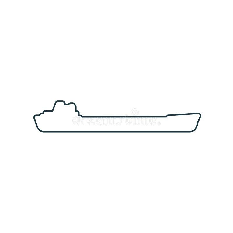 Ícone do navio de carga ilustração royalty free