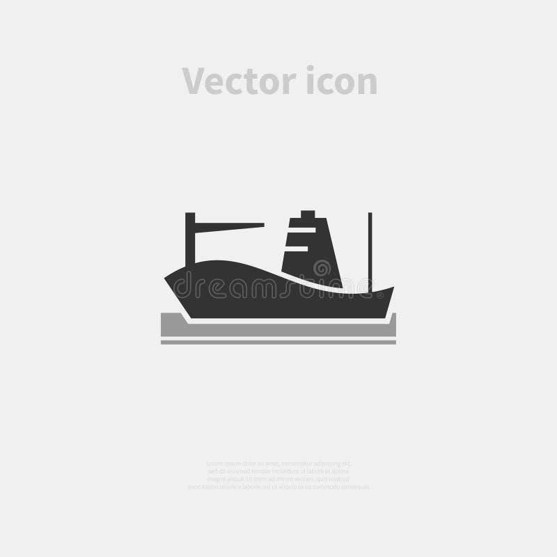 Ícone do navio de carga ilustração stock