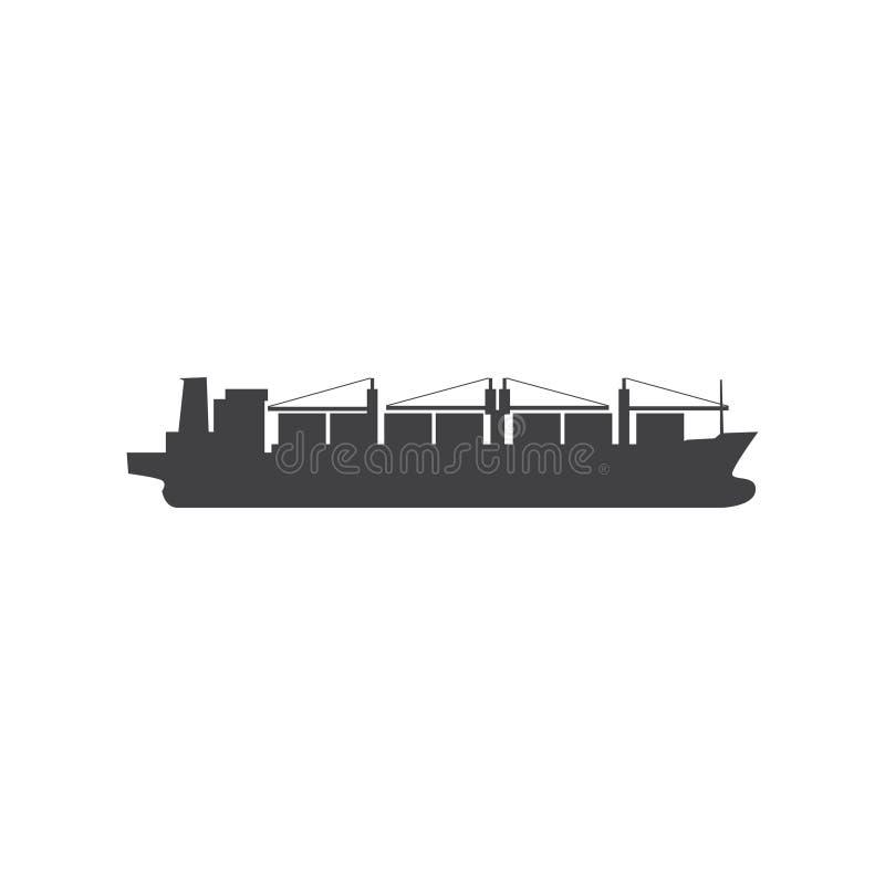 Ícone do navio de carga do vetor ilustração do vetor