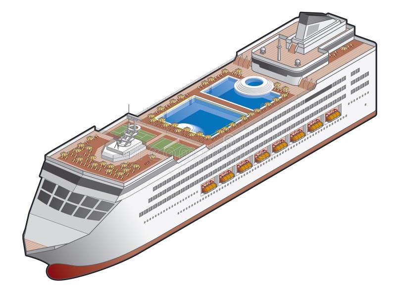 Ícone do navio de passageiro. Elementos 41h do projeto ilustração do vetor