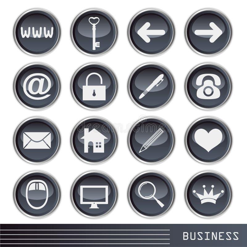 Ícone do negócio ilustração stock