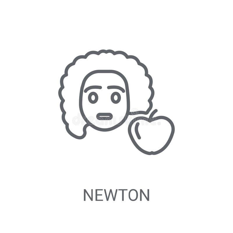 ícone do newton Conceito na moda do logotipo de Newton no fundo branco de ilustração stock