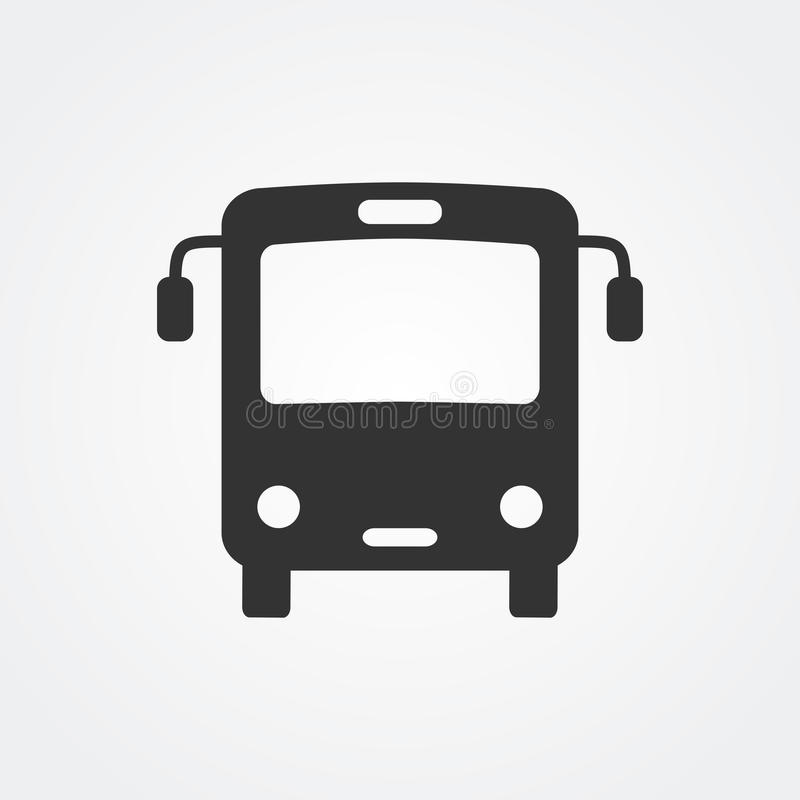 Ícone do ônibus ilustração stock