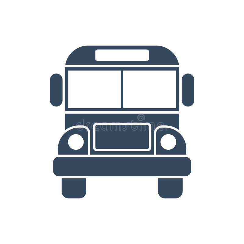 Ícone do ônibus isolado ilustração royalty free