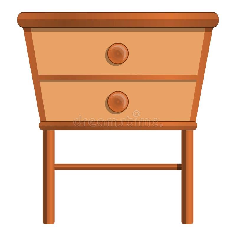 Ícone do nightstand da casa, estilo dos desenhos animados ilustração stock