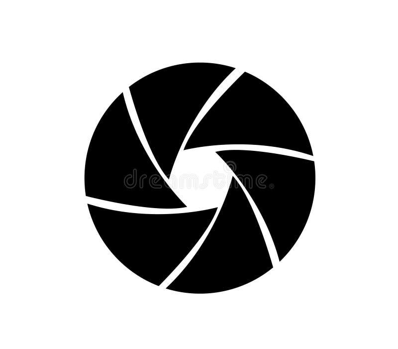 Ícone do objetivo da câmera ilustração stock