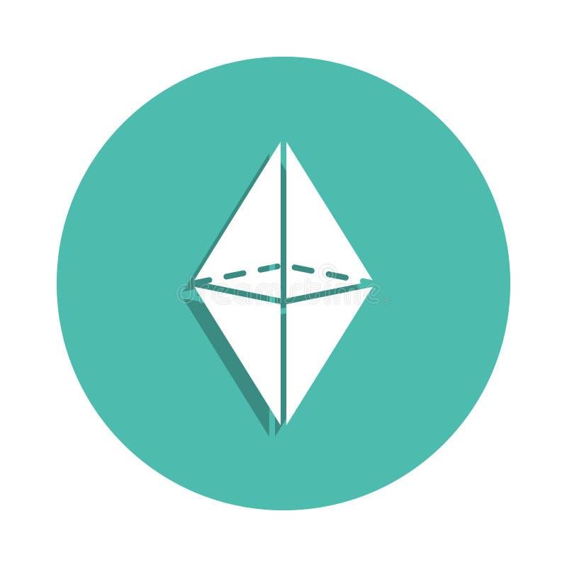 Ícone do Octahedron Elementos da figura geométrica em ícones do estilo do crachá Ícone simples para Web site, design web, app móv ilustração royalty free