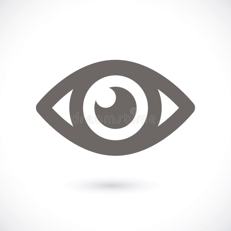 Ícone do olho ilustração stock