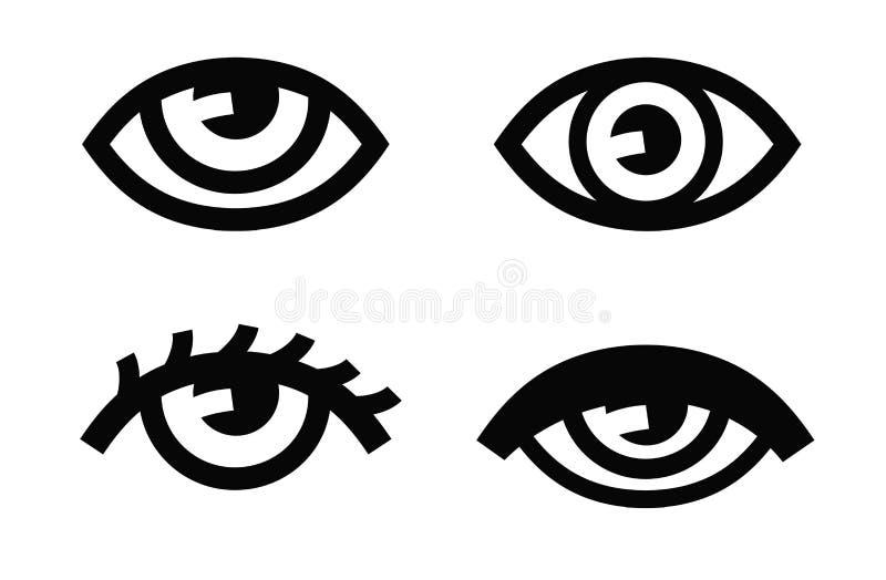 Ícone do olho ilustração royalty free