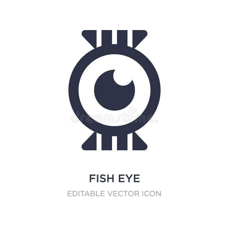 ícone do olho de peixes no fundo branco Ilustração simples do elemento do conceito dos animais ilustração royalty free