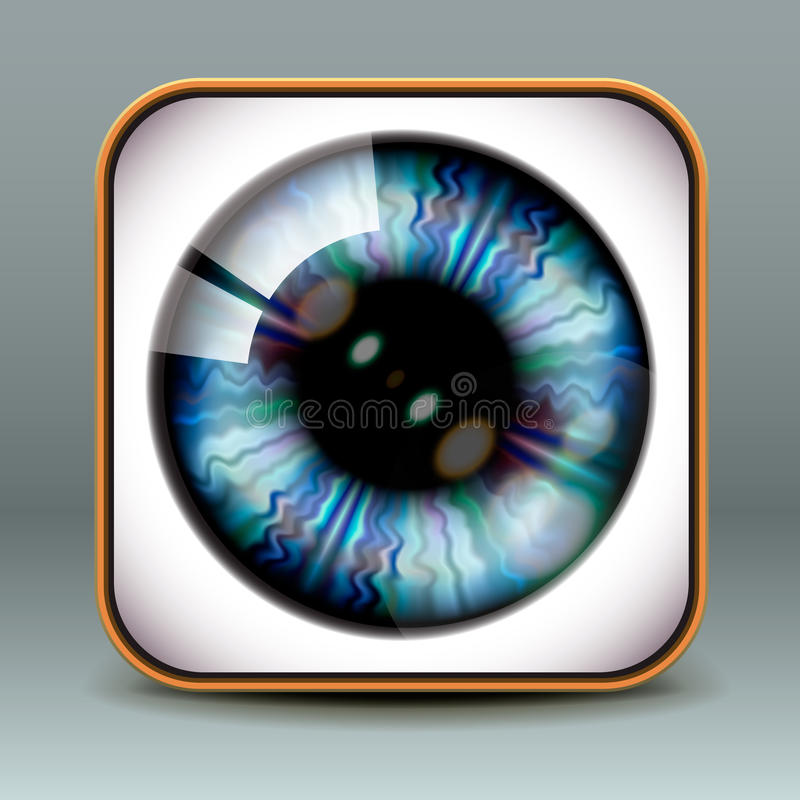 Ícone do olho do projeto do App ilustração royalty free