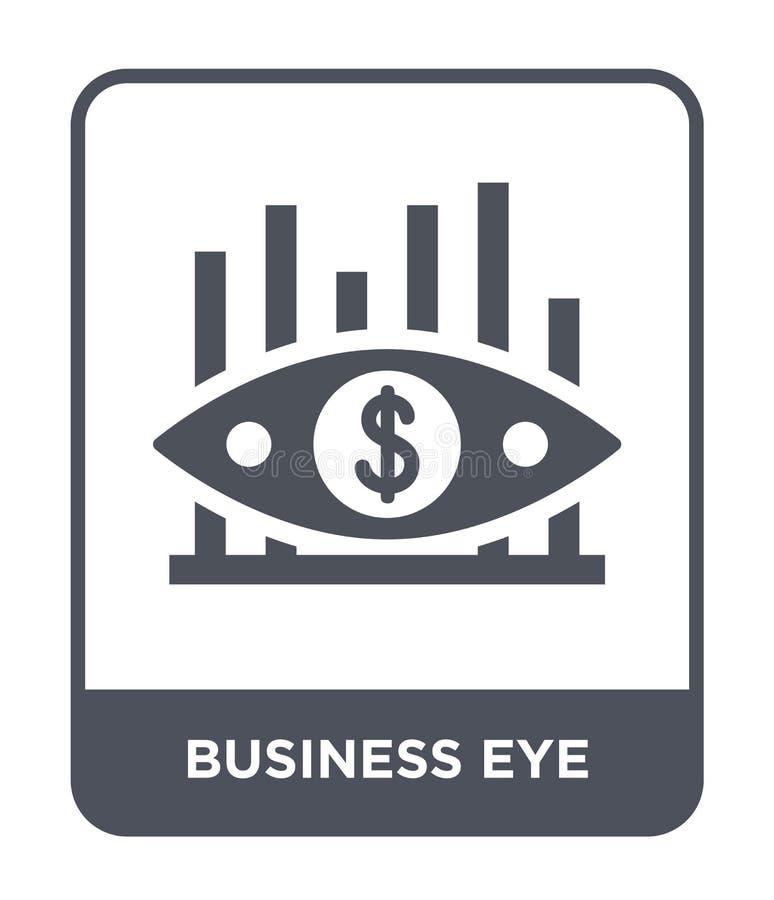 ícone do olho do negócio no estilo na moda do projeto ícone do olho do negócio isolado no fundo branco ícone do vetor do olho do  ilustração royalty free