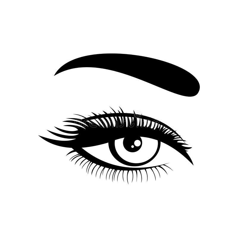 Ícone do olho Símbolo do olho Projeto liso Ilustração do vetor ilustração royalty free