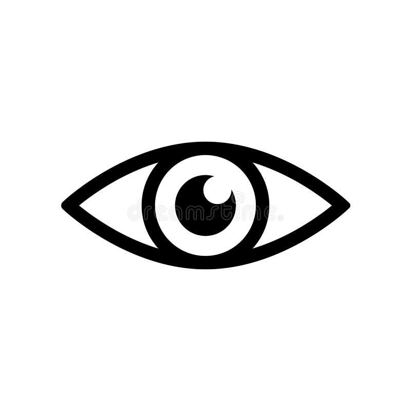 Ícone do olho - vetor ilustração stock
