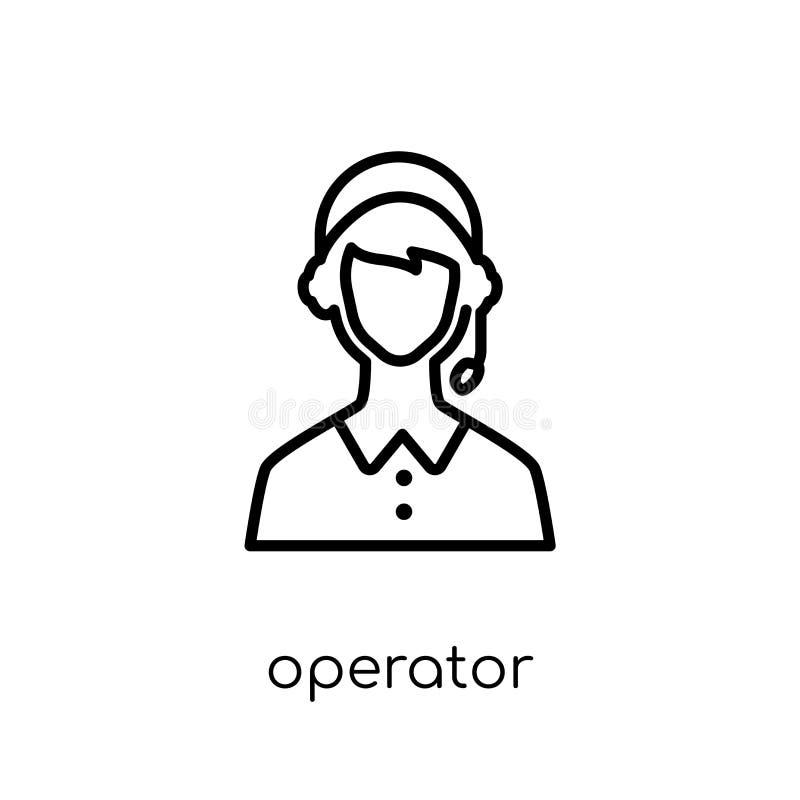 Ícone do operador da entrega e da coleção logística ilustração stock