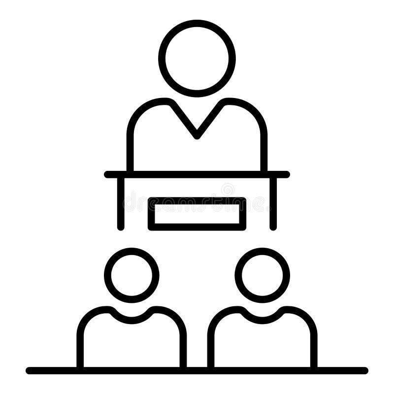 Ícone do orador da coesão, estilo do esboço ilustração stock