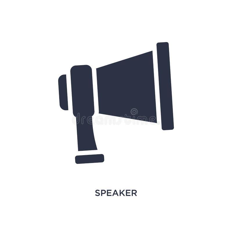 Ícone do orador no fundo branco Ilustração simples do elemento do conceito da estratégia ilustração do vetor