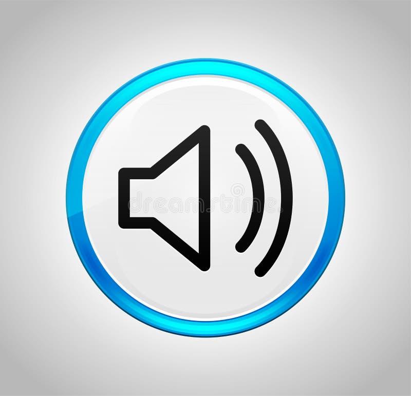 Ícone do orador do volume em volta da tecla azul ilustração do vetor