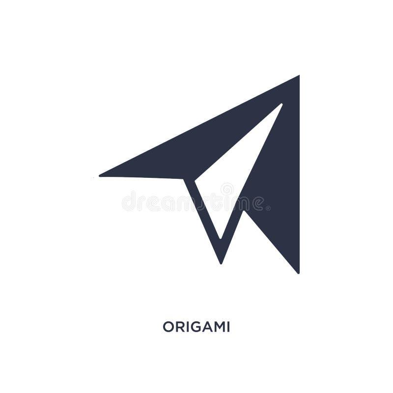 ícone do origâmi no fundo branco Ilustração simples do elemento do conceito do tempo livre ilustração stock