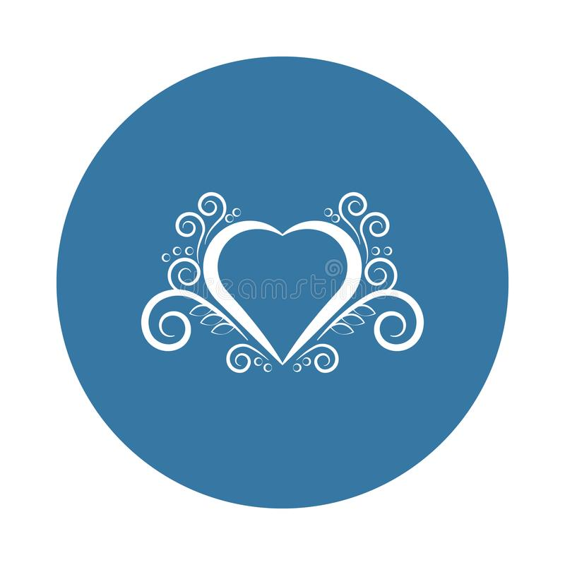 Ícone do ornamento do coração Elemento de ícones dos ornamento para apps móveis do conceito e da Web O ícone do ornamento do cora ilustração stock