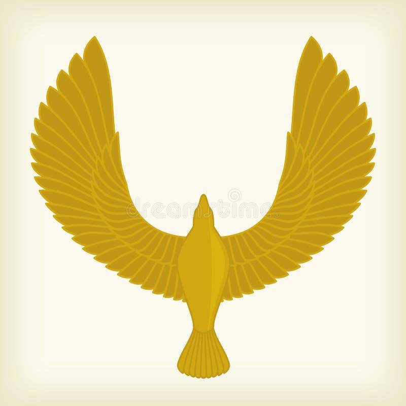 Ícone do pássaro de vôo ilustração stock