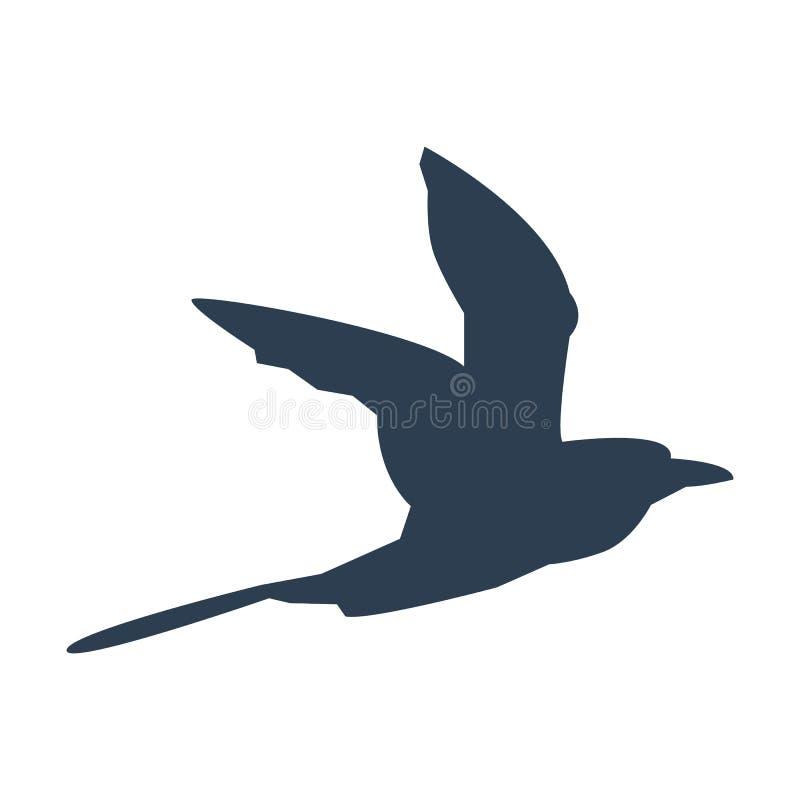Ícone do pássaro de voo ilustração stock