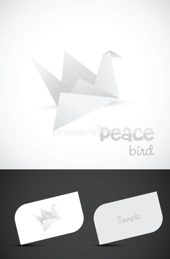 Ícone do pássaro do papel do origami do vetor ilustração royalty free