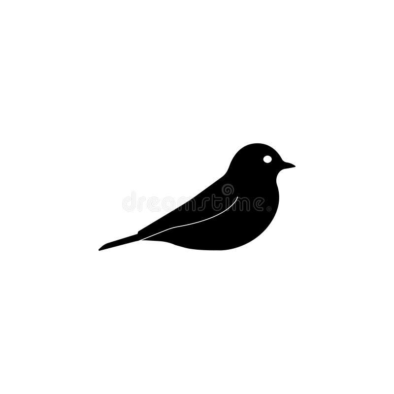 Ícone do pássaro Símbolo da ilustração do vetor ilustração stock