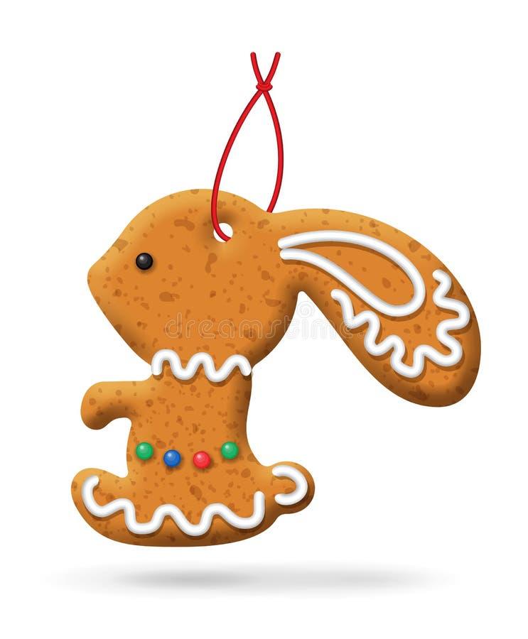 Ícone do pão-de-espécie do Natal ilustração do vetor