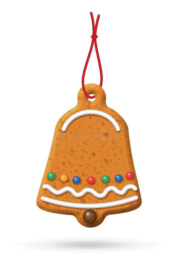Ícone do pão-de-espécie do Natal ilustração royalty free