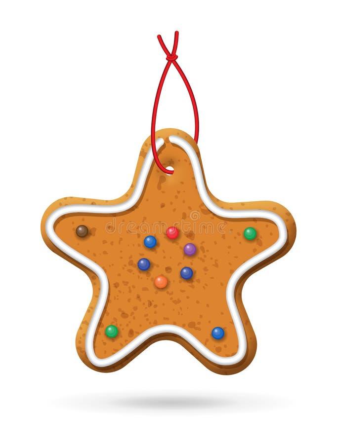 Ícone do pão-de-espécie do Natal ilustração stock