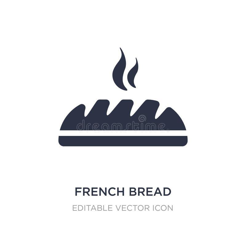 ícone do pão francês no fundo branco Ilustração simples do elemento do conceito do alimento ilustração royalty free