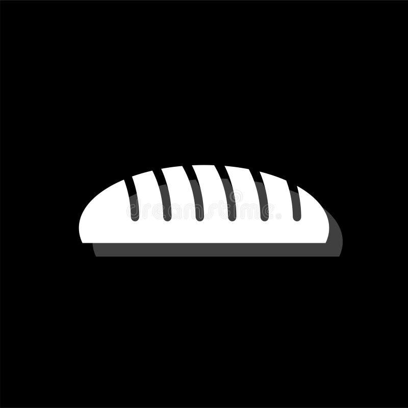 Ícone do pão liso ilustração do vetor