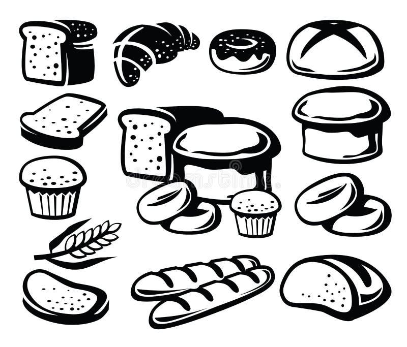Ícone do pão ilustração royalty free