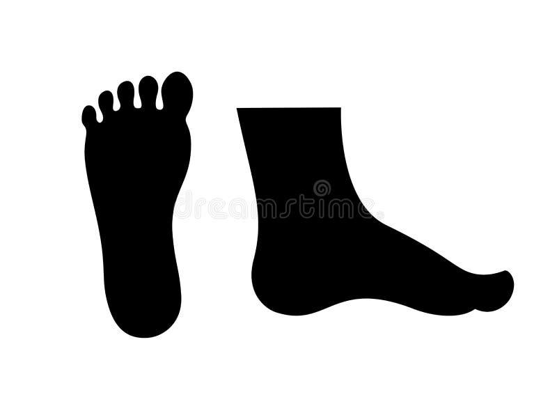 Ícone do pé humano ilustração royalty free