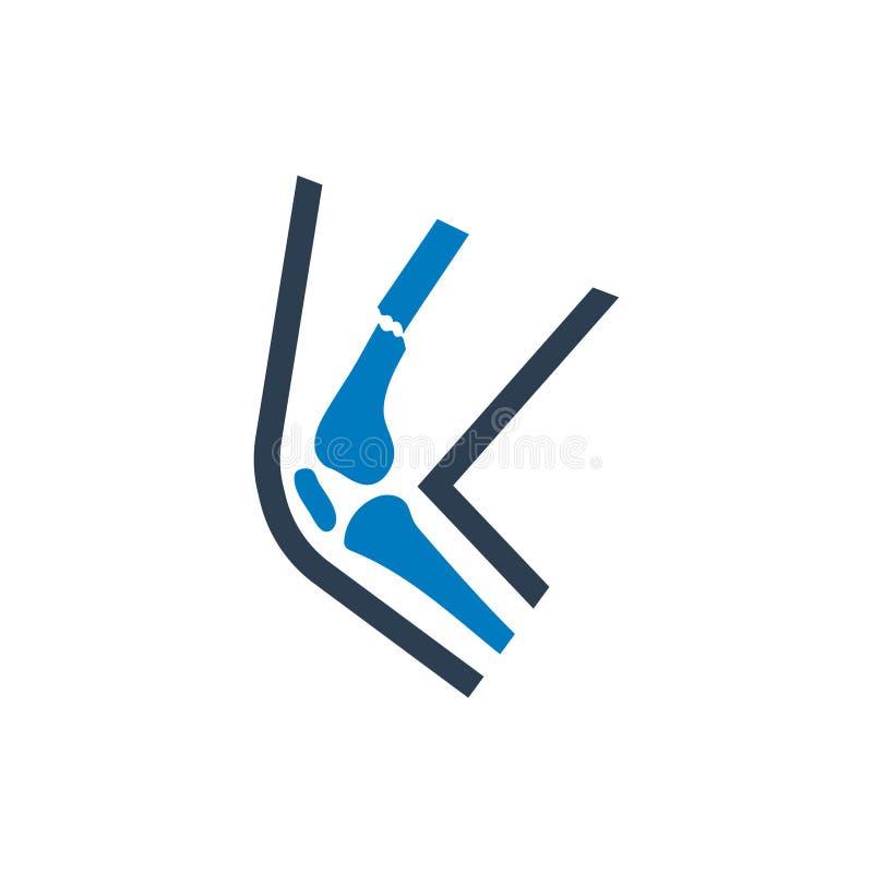 Ícone do pé quebrado ilustração do vetor