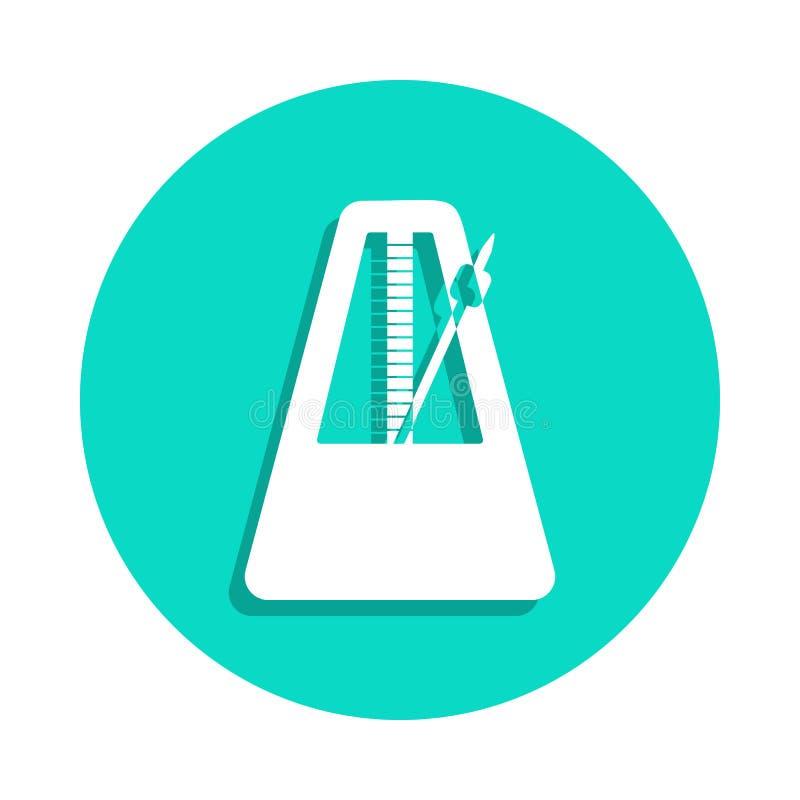 ícone do pêndulo no estilo do crachá Um do ícone da coleção dos instrumentos de música pode ser usado para UI, UX ilustração do vetor