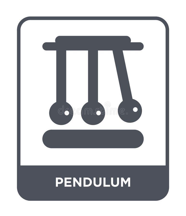 ícone do pêndulo no estilo na moda do projeto ícone do pêndulo isolado no fundo branco plano simples e moderno do ícone do vetor  ilustração do vetor