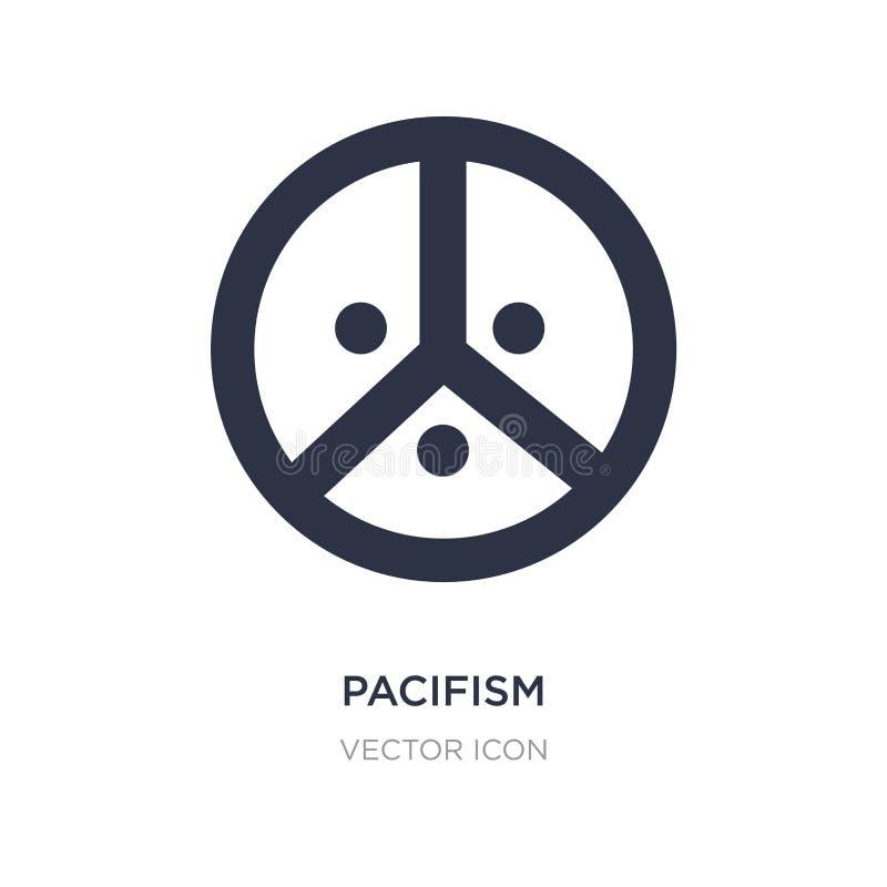 ícone do pacifismo no fundo branco Ilustração simples do elemento do conceito da paz de mundo ilustração do vetor