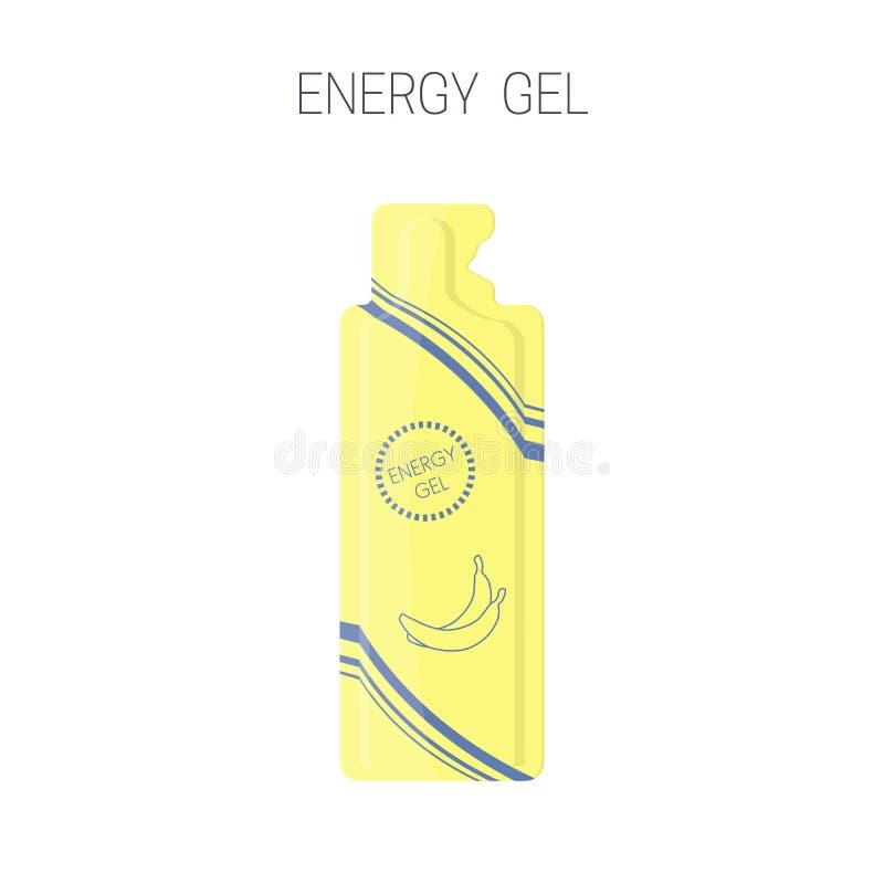 Ícone do pacote do gel do esporte da energia ilustração stock