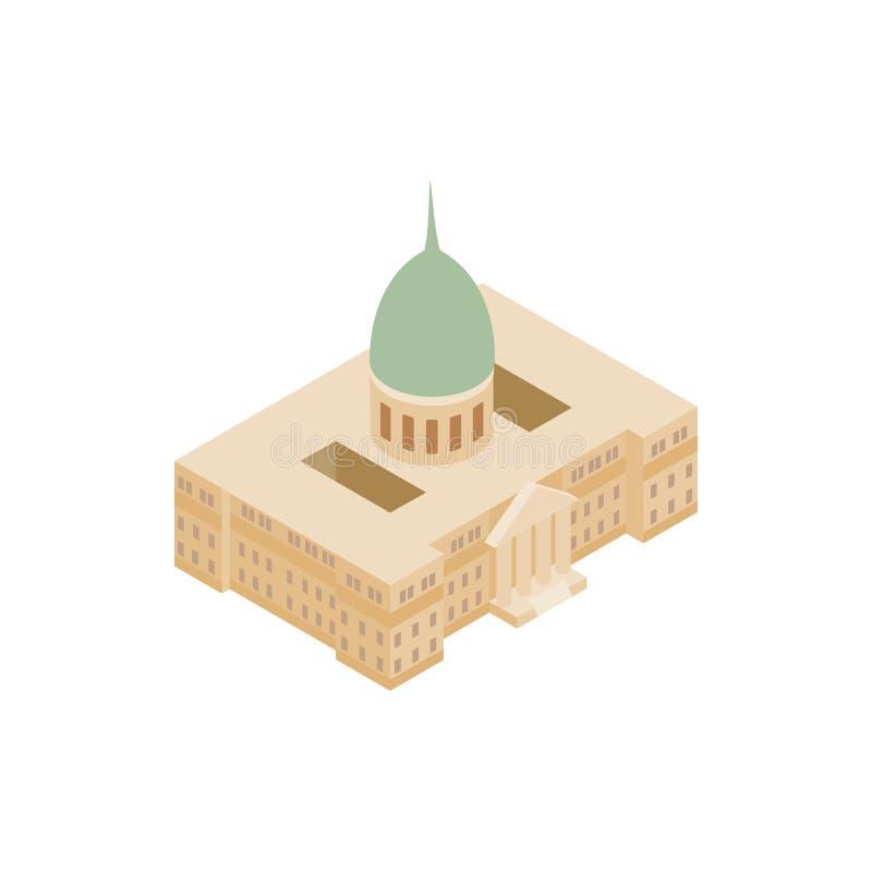 Ícone do palácio do congresso nacional de Argentina ilustração do vetor