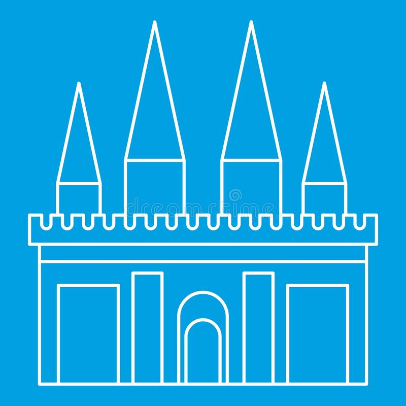 Ícone do palácio do reino, estilo do esboço ilustração stock