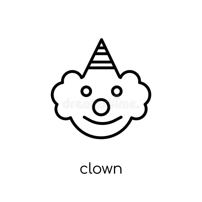 Ícone do palhaço da coleção do circo ilustração royalty free
