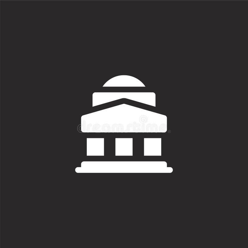 Ícone do panteão Ícone Panteão preenchido para design de site e desenvolvimento de aplicativos móveis Ícone do Panteão da coleção ilustração do vetor