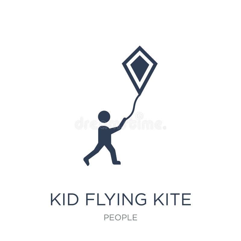 Ícone do papagaio do voo da criança  ilustração do vetor