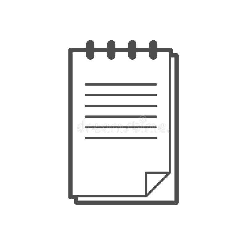 Ícone do papel de nota ilustração royalty free
