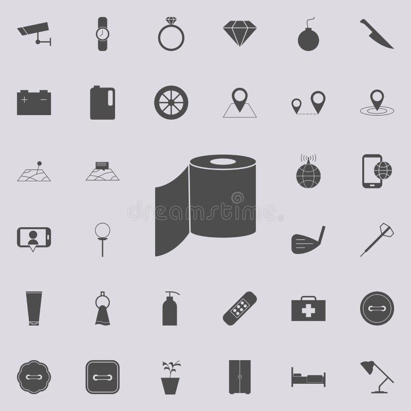 Ícone do papel higiênico Grupo detalhado de ícones minimalistic Sinal superior do projeto gráfico da qualidade Um dos ícones da c ilustração royalty free