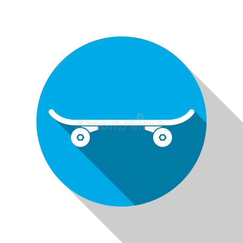 Ícone do parque do patim Logotipo do skate ilustração royalty free
