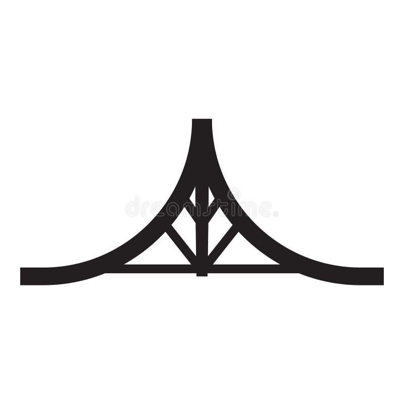 Ícone do parque do patim da corrediça dobro, estilo simples ilustração royalty free