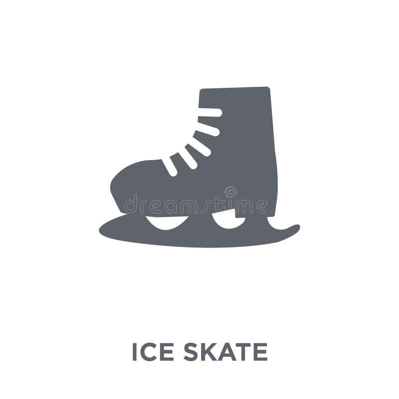 Ícone do patim de gelo da coleção ilustração royalty free